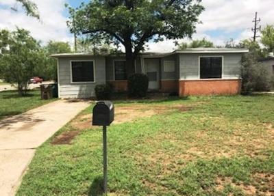 San Angelo Single Family Home For Sale: 1102 E 21st St