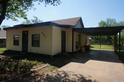 San Angelo Single Family Home For Sale: 2721 Forest Park Ave