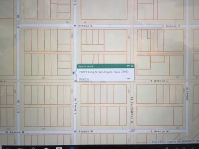 San Angelo Residential Lots & Land For Sale: 1525 Irving St