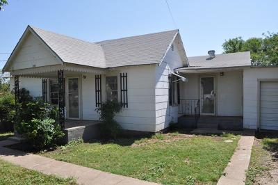San Angelo TX Single Family Home For Sale: $69,000