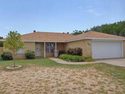 San Angelo TX Single Family Home For Sale: $160,000