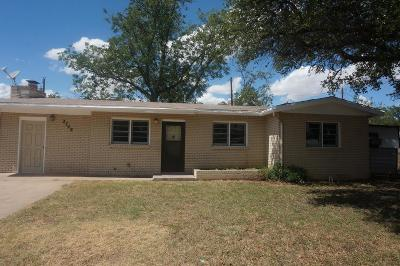 San Angelo Single Family Home For Sale: 2748 Sac Ave