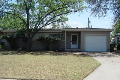 San Angelo TX Single Family Home For Sale: $149,000