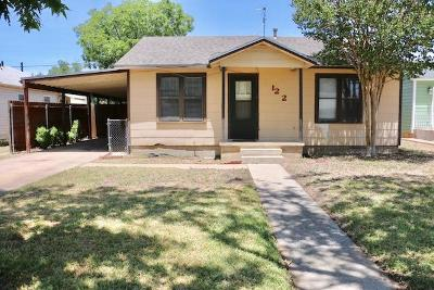 San Angelo TX Single Family Home For Sale: $95,000