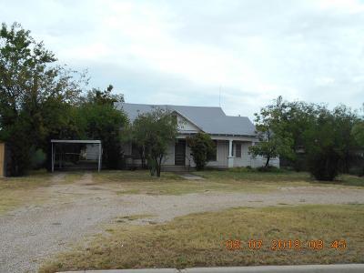 San Angelo TX Single Family Home For Sale: $65,000