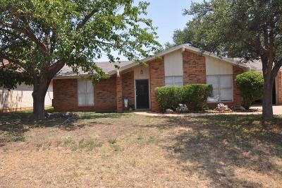 San Angelo Single Family Home For Sale: 3818 Inglewood Dr