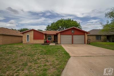 San Angelo Single Family Home For Sale: 2505 1st Atlas St