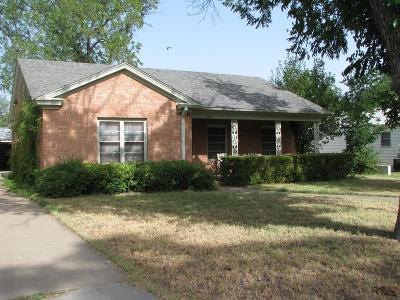 San Angelo Single Family Home For Sale: 1511 S Monroe St