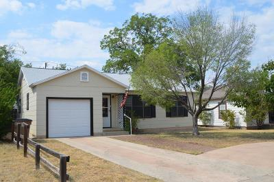 San Angelo TX Single Family Home For Sale: $139,500