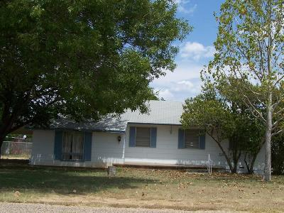 Robert Lee Single Family Home For Sale: 1206 W 11th St