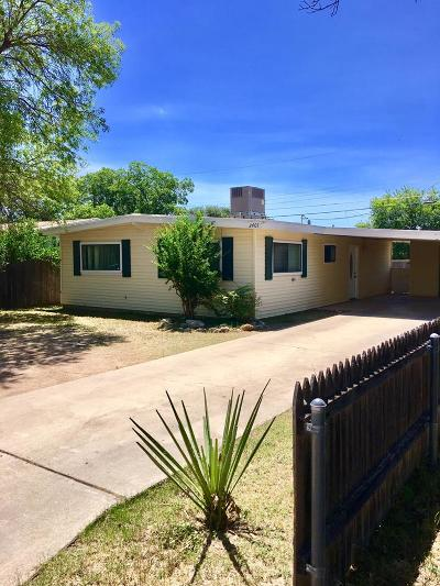San Angelo Single Family Home For Sale: 2401 Greenwood St