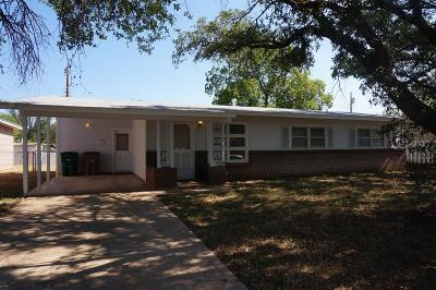 San Angelo Single Family Home For Sale: 2752 Notre Dame Ave