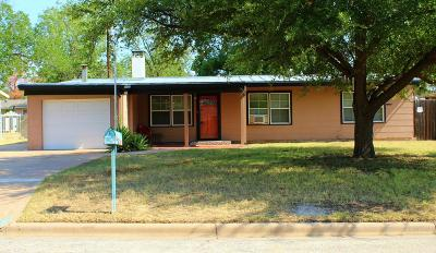San Angelo Single Family Home For Sale: 2508 Yale Ave