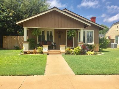 Single Family Home For Sale: 1503 Shafter St