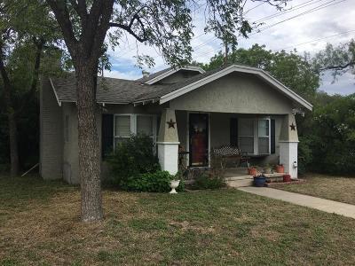 San Angelo TX Single Family Home For Sale: $139,900