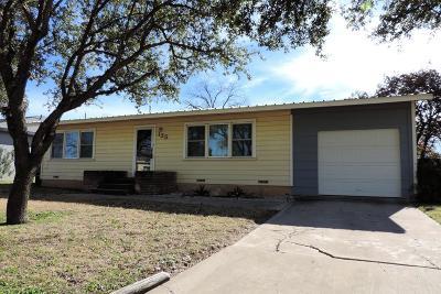 San Angelo Single Family Home For Sale: 125 Maryland St