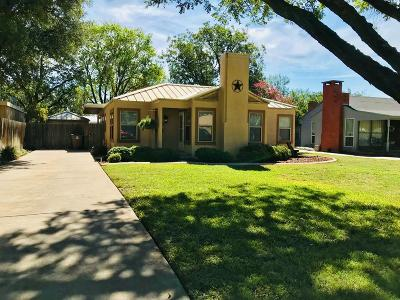 San Angelo Single Family Home For Sale: 1624 Shafter St