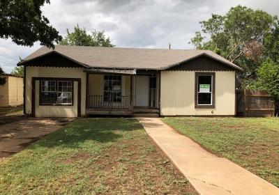 San Angelo Single Family Home For Sale: 2008 Walnut St