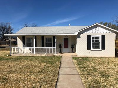 Single Family Home For Sale: 1880 Guadalupe St
