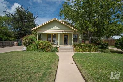 San Angelo TX Single Family Home For Sale: $139,000