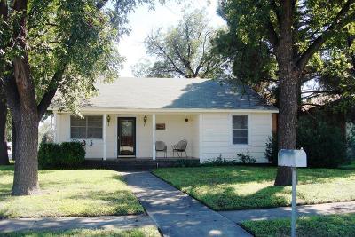 San Angelo Single Family Home For Sale: 825 Koberlin St