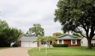 San Angelo TX Single Family Home For Sale: $164,900