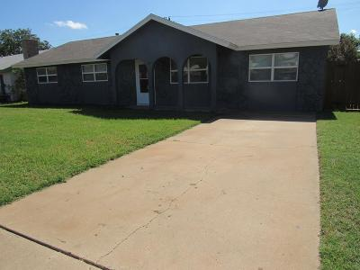 San Angelo TX Single Family Home For Sale: $145,000