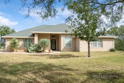 Christoval Single Family Home For Sale: 6192 Fm 2335