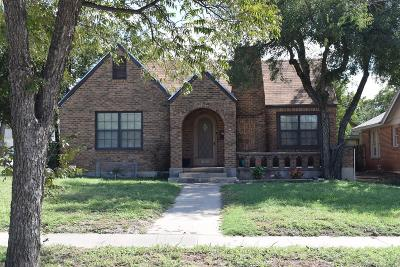 San Angelo Single Family Home For Sale: 2321 Waco St