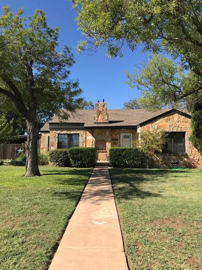 San Angelo Single Family Home For Sale: 2438 Dallas St