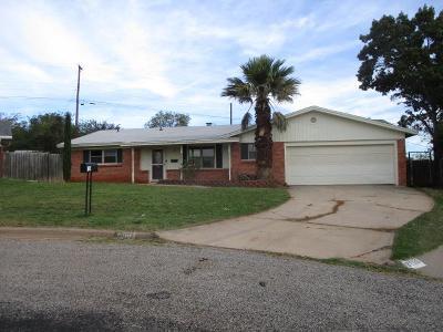 San Angelo TX Single Family Home For Sale: $124,000