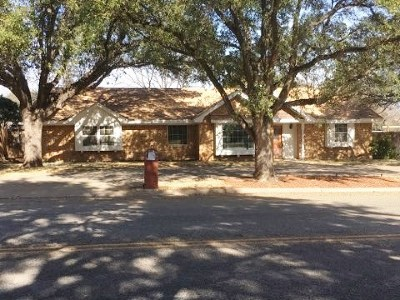 San Angelo TX Single Family Home For Sale: $189,900