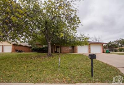 San Angelo TX Single Family Home For Sale: $129,000