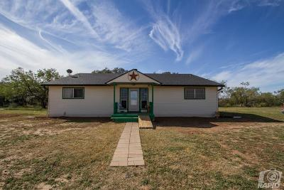 San Angelo Single Family Home For Sale: 8585 Swain Rd