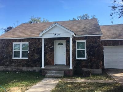 San Angelo Single Family Home For Sale: 1517 Webster Ave