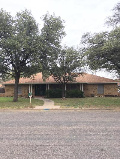 San Angelo TX Single Family Home For Sale: $171,950