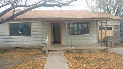 San Angelo TX Single Family Home For Sale: $49,000