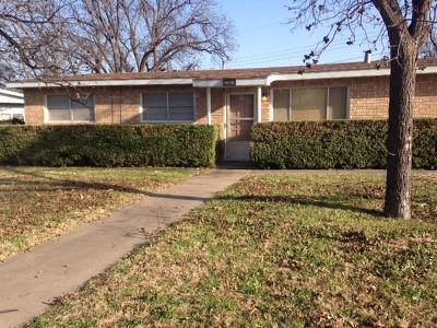 San Angelo Single Family Home For Sale: 2907 Field St