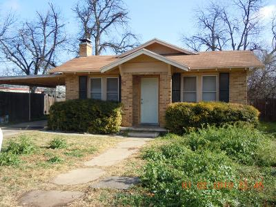 San Angelo Single Family Home For Sale: 408 S Harrison St