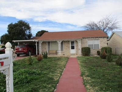 San Angelo Single Family Home For Sale: 2432 Abilene St