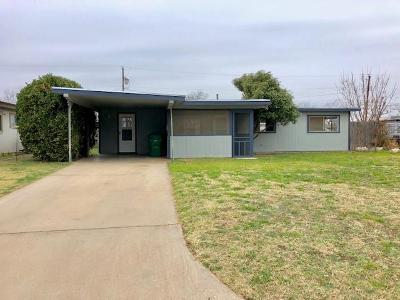 San Angelo TX Single Family Home For Sale: $94,000