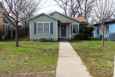 San Angelo TX Single Family Home For Sale: $92,500