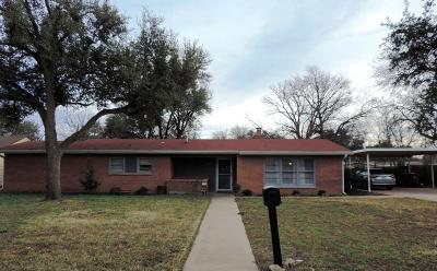 San Angelo Single Family Home For Sale: 2625 Harvard Ave