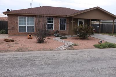 San Angelo TX Single Family Home For Sale: $128,500