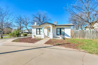 San Angelo Single Family Home For Sale: 1724 W Ave J