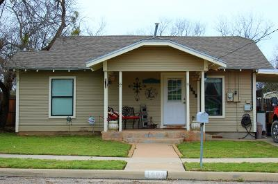 San Angelo Single Family Home For Sale: 1609 S Harrison St