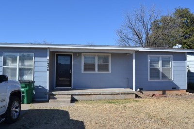 San Angelo Single Family Home For Sale: 2434 Rio Grande St