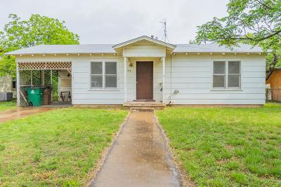 San Angelo TX Single Family Home For Sale: $72,000