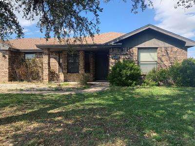 San Angelo TX Single Family Home For Sale: $180,000
