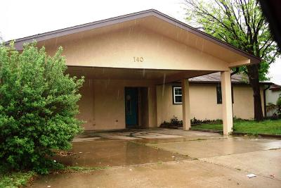 San Angelo TX Single Family Home For Sale: $157,500